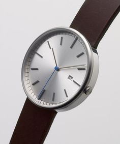 203 SERIES (Brushed Steel / Mahogany Leather) | Uniform Wares