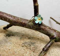 Helix earpiece 'forget-me-not' for my good friend Jane