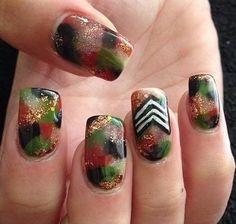 US Army Nails Military Nails, Army Nails, Holiday Nail Art, Cute Nails, Fingers, Homecoming, Camo, Brother, Hair Makeup