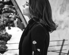 Morgane Polanski shines behind the scenes of the Fay Fall-Winter 2016/17 campaign shoot.