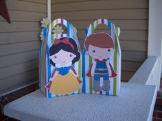 Snow and Her Guy  Inspired Gable Favor Boxes Set of 12 by zbrown5, $14.40