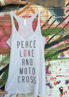 PEACE LOVE and MOTOCROSS Women's Motocross Shirt Tank by 151BRAND