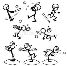 Baseball Signs With Name - - - - Baseball Drawing Step By Step - Baseball Players Aesthetic Softball, Basketball Hoop, Stick Figure Drawing, Stick Man, Cartoon People, Sketch Notes, Stick Figures, Drawing People, Doodle Art