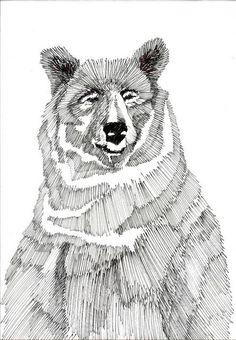 Art And Illustration, Animal Drawings, Art Drawings, Art D'ours, Motifs Animal, Desenho Tattoo, Wassily Kandinsky, Bear Art, Painting & Drawing