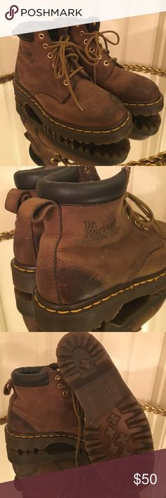 Classic Dr Marten 939 Lace Up Boots Classic Dr Marten 939 boots in brown leather. Junior size 4. Made in England. Like new condition, no wear in souls. Dr. Martens Shoes Ankle Boots & Booties
