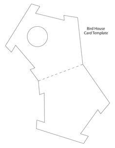birdhouse card template