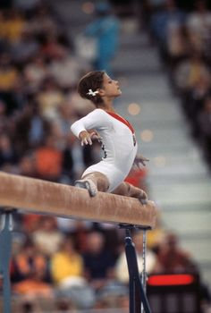 USSR's Olga Korbut competes in 1972 in Munich. (Neil Leifer/Sports Illustrated) via CNN.  I remember watching this.