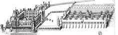 Château de Gaillon ( du Cerceau, 1576). -La Maison Blanche, curieux pavillon de jardin aux sculptures chargées, presque la moitié des gravures et la planche gravée de la Face de devant montre à la fois la façade et le fond du portique, ce qui permet d'en comprendre la disposition en profondeur, Du Cerceau est l'architecte de cette splendide salle de fête comme on peut le supposer. La Maison Blanche disparut dès le 17°s. Le chateau de Gaillon fut brûlé et fait l'objet de travaux de…