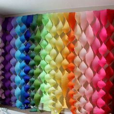 This listing for crepe streamers are great for back drops at your party or event. Custom order to coordinate with your party colors! This quality crepe is lightweight, making hanging easy but strong enough to be able to be used multiple times. Halloween Party Games, Rainbow Birthday Party, Birthday Parties, Diy 3 Year Old Birthday Party, Rainbow Parties, Balloon Decorations, Birthday Party Decorations, Crepe Paper Decorations, Party Streamers