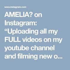 """AMELIA🎨 on Instagram: """"Uploading all my FULL videos on my youtube channel and filming new ones of course🎨🦄 Link in bio for this one 💫"""" • Instagram"""