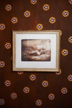 Kunst på tapetet. Håndtrykt LLZ TAPET COCCO Fra udstillingen i galleri5000 i 2014