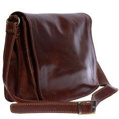 Cartella a tracolla vera pelle 100% Mirko GM Myalleshop Brown Leather Messenger Bag, Leather Briefcase, Apple Uk, Bags Uk, Purse Wallet, Calf Leather, Leather Purses, Satchel, Products