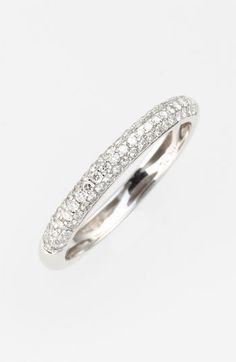 Bony+Levy+Stackable+Pavé+Diamond+Band+Ring+(Nordstrom+Exclusive)+available+at+#Nordstrom