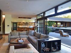 Cozy Living Room with Open Sliding Door to Deck/Swimming Pool
