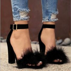 Women shoes For Summer Jimmy Choo - Women shoes Guide - Women shoes High Heels Stilettos - Women shoes White Casual Thick Heel Boots, Thick Heels, Black High Heels, Heeled Boots, Heeled Sandals, Cute High Heels, High Sandals, Gladiator Sandals, Fur Heels