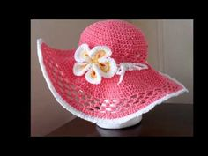 Sombreros para playa tejido a crochet - YouTube