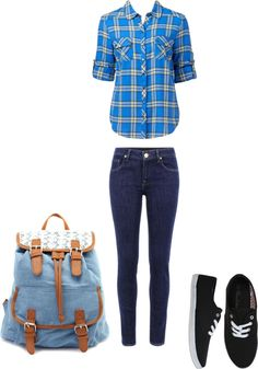 """normal school day"" by lilbratz-011 on Polyvore"