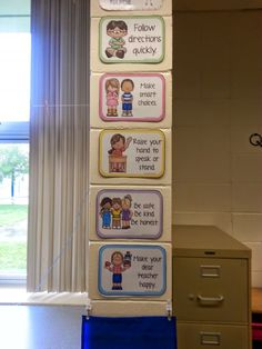 Love these (free!) super-cute class rule posters- Whole brain teaching style