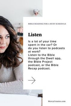 """Do you feel like your season of life is too busy to sit down and study? Try to LISTEN to the Bible through podcasts or apps! Read """"Bible Study for a Busy Schedule"""" to learn more techniques of how to feed your spirit when your day seems chaotic! Do You Feel, Give It To Me, Listen To The Bible, Planner Writing, Encouraging Verses, Seasons Of Life, Your Word, Read Aloud, Forgiveness"""