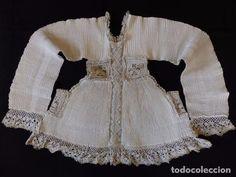 Antigüedades: Excepcional roquete plisado. Siglo XVIII. - Foto 2 - 85359460