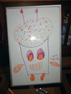 A dry-erase board drawing made by Elias Jr. , 7 years old • Art My Kid Made