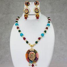 Unique Multicolored Stone Long Necklace Collection