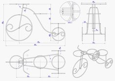 Rustic tricycle planter plan - Assembly 2D drawing