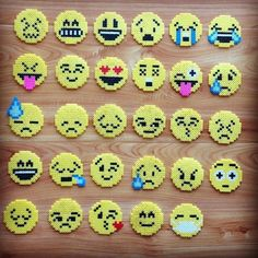 Perler beads emojis. More Más