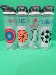 - Makes great party favors. - names, cartoon characters, sports teams, personalize it just for you Custom Water Bottles, Bpa Free Water Bottles, Personalized Water Bottles, Nutrition Program, Kids Nutrition, Sports Party, Sports Birthday, Bacon And Egg Casserole, Small Study