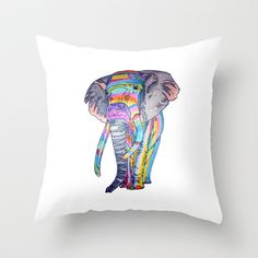 #RAINBOWPHANT - colour pencil Throw Pillow by #Heaven7 - $20.00