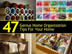 FacebookTwitterPinterest Home organization is one of the trickiest things to succeed at, it seems. There is just so much stuff in so many rooms that the task is often...