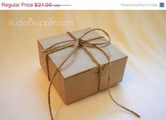 4 x 4 x 2 Natural Kraft Paper Gift Boxes by studio8supplies, $16.80