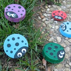 Plastic Lid Ladybugs | Crafts by Amanda | Bloglovin'