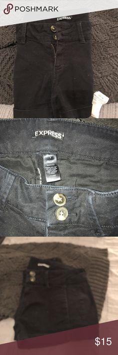 Just In 🥁Express black shorts EUC black Express jean 5 pocket shorts Express Shorts