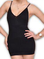 098334f146 Deep V women sexy spaghetti strap bodysuit seamless wireless super elastic  bodysuit over hip undershirt slimming
