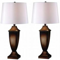 Kenroy Home Singer 30 in. Mottled Bronze Table Lamp ( 2 Pack )-32254MB at The Home Depot $120.00 for 2