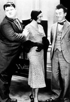 Oliver Hardy, Thelma Todd and Stan Laurel