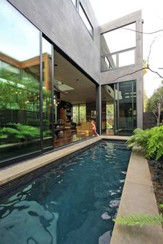 Sliding doors to the lap pool. awesome. Just like in the house I'm designing in Neve Tzedek, Tel-Aviv.