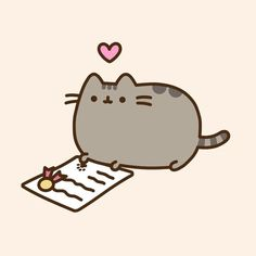Pusheen is proud to sign International Declaration of Responsibilities to Cats! 📃😻🐾 To go sign the Declaration, visit our link… Pusheen Love, Pusheen Cat, Pusheen Stickers, Cute Stickers, Cute Kawaii Animals, Kawaii Cat, Kawaii Drawings, Cute Drawings, Pusheen Stormy