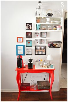 Coffee Bar Ideas - Looking for some coffee bar ideas? Here you'll find home coffee bar, DIY coffee bar, and kitchen coffee station. Coin Café, Sweet Home, Diy Casa, Home Coffee Stations, Diy Home Decor Easy, Coffee Corner, Home And Deco, Decoration, Kitchen Decor