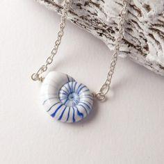 sea shell jewerly   ... Faux Seashell Pendant - Summer fashion - seashell Jewelry on Wanelo