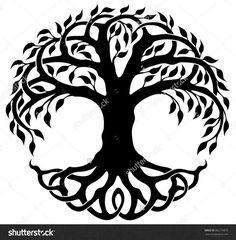 tree of life with roots clipart tree of life pinterest roots rh pinterest com tree of life clip art free and judaism tree of life silhouette clip art
