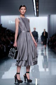 The latest from Christian Dior - some amazing pieces. High belted waists, full skirts. Beautiful.