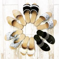 Wedge Sandals, Leather Sandals, Mystique Sandals, Bridal Sandals, Jeweled Sandals, Types Of Women, Contemporary Style, Pairs, Stylish
