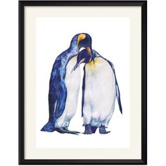 Claudine O'Sullivan - Penguins Art Print ($49) ❤ liked on Polyvore featuring home, home decor, wall art, white home decor, white wall art and paper wall art