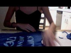 How to cut a boring t-shirt into a cute tanktop!