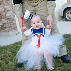 stay puft marshmallow baby girl tutu costume so easy made with store bought white