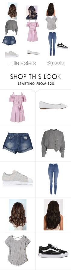 """My sisters"" by nekogirl13 on Polyvore featuring Miss Selfridge, adidas, Jane Norman, Hollister Co. and Vans"