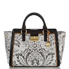 The beautiful new lady damask annabelle satchel... #brahmin #blackandwhite #summer