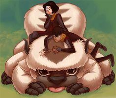 Kai & Jinora   Sky Bison   Legend of Korra   Avatar